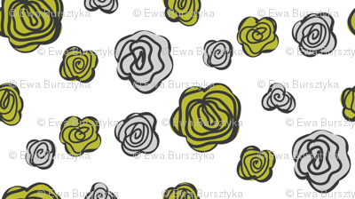 flowers olive and gray