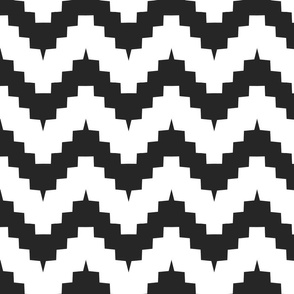 Funky chevron black and white