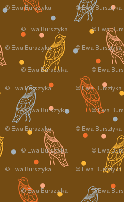 Birds ditsy with dots