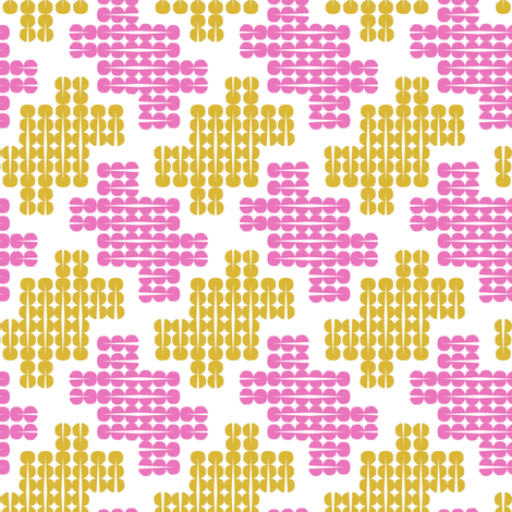 splitpea houndstooth fabric by misshapen_brushes on Spoonflower - custom fabric