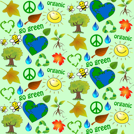 go green fabric by krs_expressions on Spoonflower - custom fabric