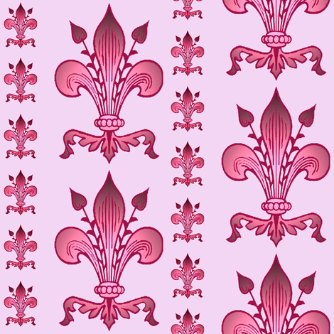fleur de lis ~ mauve fabric by krs_expressions on Spoonflower - custom fabric