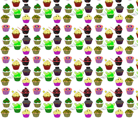 Geektastic Cupcakes fabric by jamison_star on Spoonflower - custom fabric
