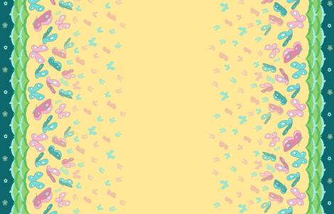Fluttershy Butterfly, Double Border Print fabric by ninniku on Spoonflower - custom fabric