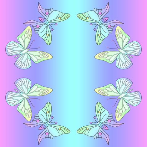 pastel butterflies fabric by krs_expressions on Spoonflower - custom fabric