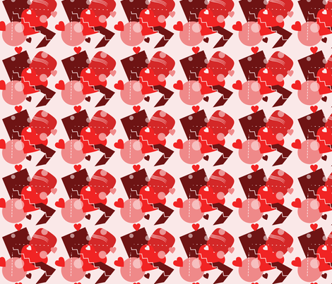 red everything vday fabric by ronnyjohnson on Spoonflower - custom fabric