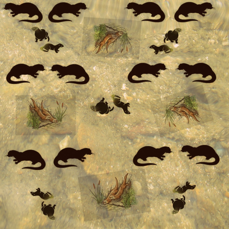 River Otters fabric by ravynscache on Spoonflower - custom fabric