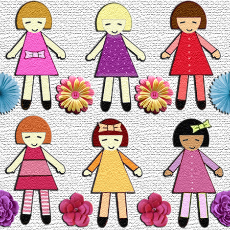 paper dolls fabric by krs_expressions on Spoonflower - custom fabric
