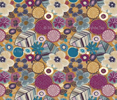 tea towel floral