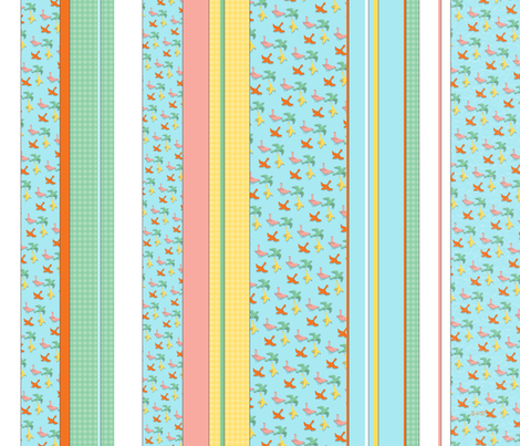 Flutter & Stripes fabric by south4winter on Spoonflower - custom fabric