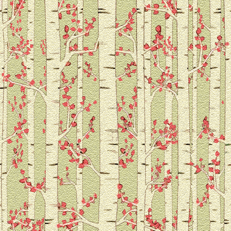 birch trees fabric by krs_expressions on Spoonflower - custom fabric