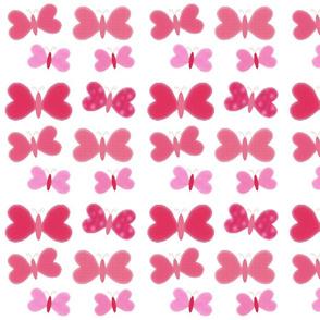 Ombre Glass Butterflies