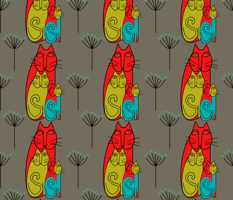 hot cats fabric by linsen on Spoonflower - custom fabric