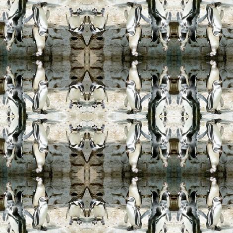 Penguin Geometric fabric by ravynscache on Spoonflower - custom fabric