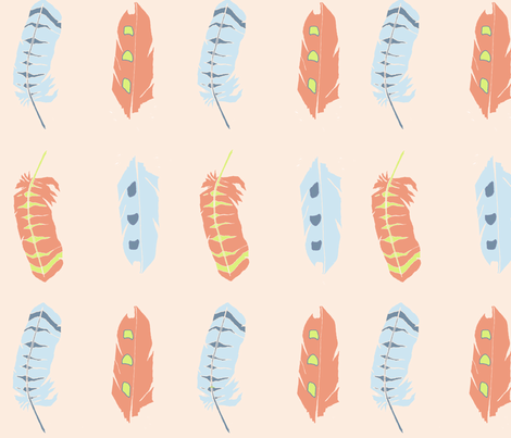 Birds of a Feather fabric by a_designs on Spoonflower - custom fabric