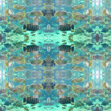 Aquatic fabric by ravynscache on Spoonflower - custom fabric