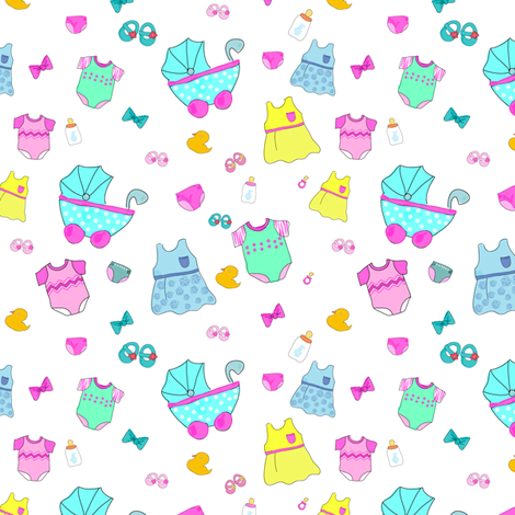 Baby Girl Accessories fabric by witee on Spoonflower - custom fabric