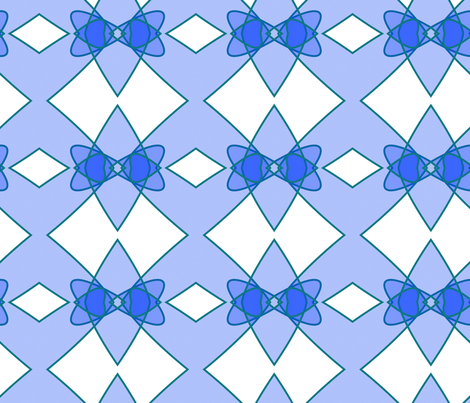 Blue Bowties fabric by south4winter on Spoonflower - custom fabric