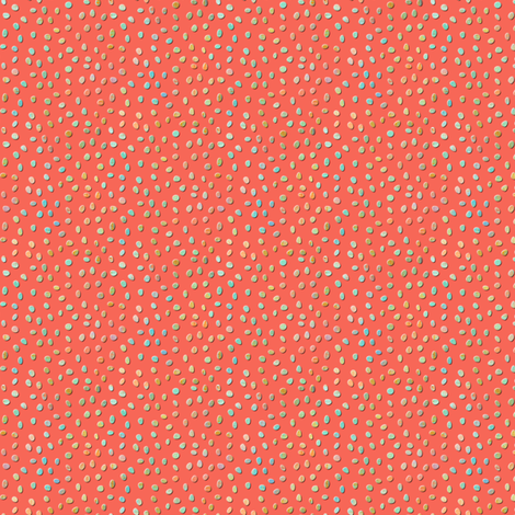 sketch_texture_dots_coral fabric by glimmericks on Spoonflower - custom fabric