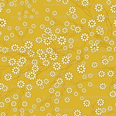 Baby's Breath Floral mustard