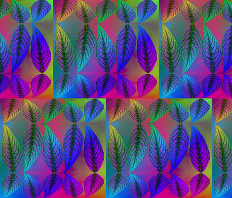 reflected leaves fabric by y-knot_designs on Spoonflower - custom fabric