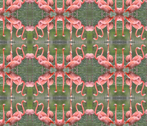 Flamingo Dance fabric by ravynscache on Spoonflower - custom fabric