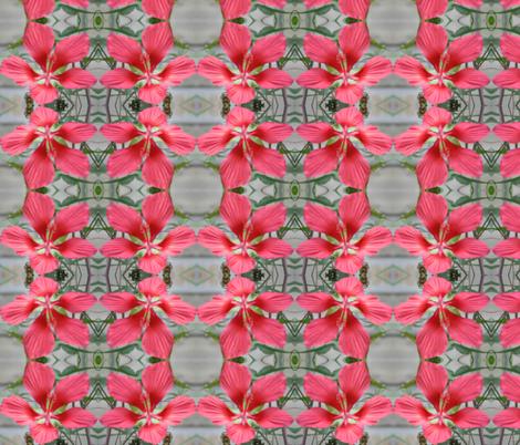 Hibiscus Lattice fabric by ravynscache on Spoonflower - custom fabric