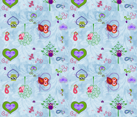 owl_family_fabric fabric by nola_original on Spoonflower - custom fabric