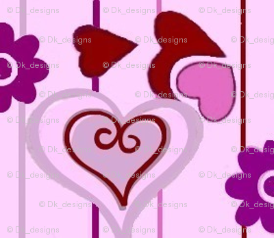 valentines red and purple hearts 02