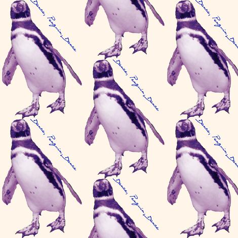 Dancing Penguin fabric by ravynscache on Spoonflower - custom fabric