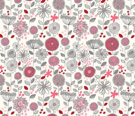 flowers_a_fantasy fabric by stacyiesthsu on Spoonflower - custom fabric