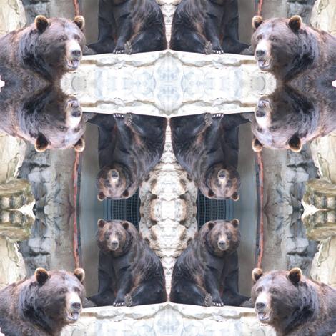 Bears Squared fabric by ravynscache on Spoonflower - custom fabric