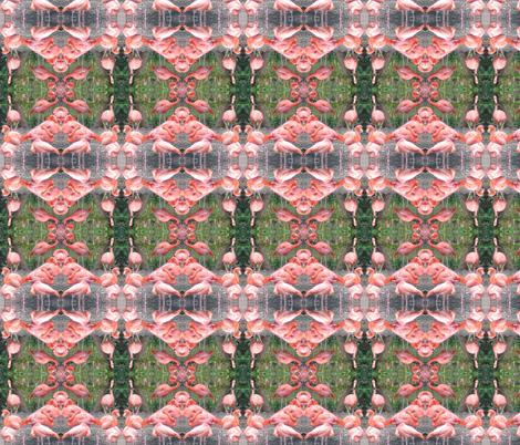 Flamingo Lace fabric by ravynscache on Spoonflower - custom fabric