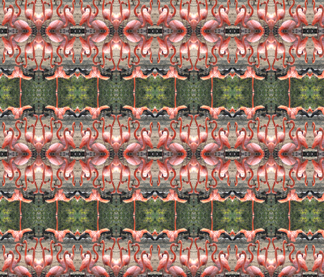 Flamingo Revue fabric by ravynscache on Spoonflower - custom fabric