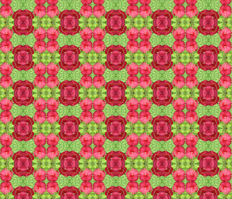Hibiscus Quilt fabric by ravynscache on Spoonflower - custom fabric