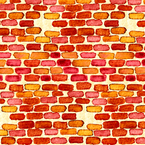Bricks 2 fabric by jadegordon on Spoonflower - custom fabric