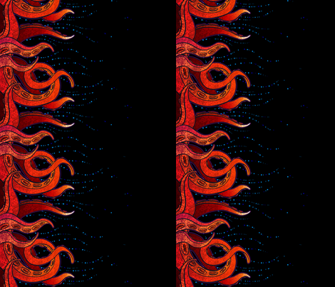 Tentacle Border 6 fabric by jadegordon on Spoonflower - custom fabric