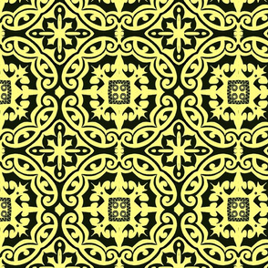 black n yellow tile