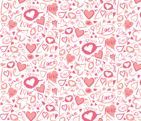 love_letters_3SF fabric by pokito on Spoonflower - custom fabric