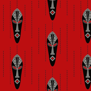 African Modern / mask-red