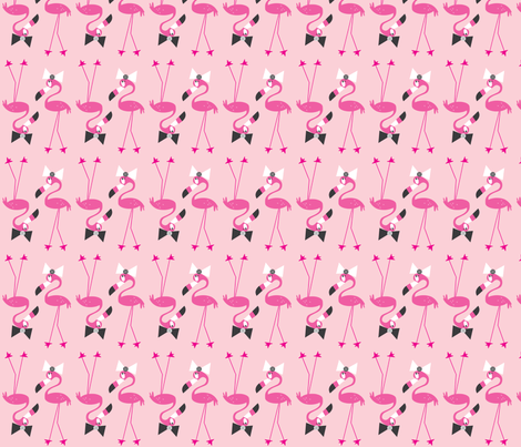 Flo and her Bow fabric by halfpinthome on Spoonflower - custom fabric