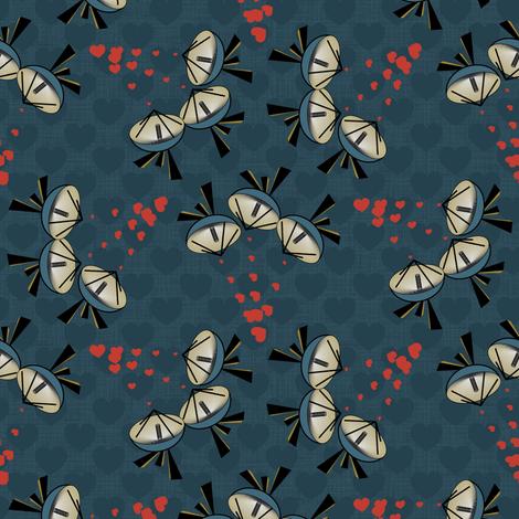 Little radar hearts fabric by motiver on Spoonflower - custom fabric