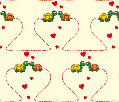TurtleLove-ed fabric by dainty_little_things on Spoonflower - custom fabric