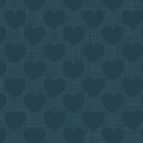 Hearts plain blue fabric by motiver on Spoonflower - custom fabric