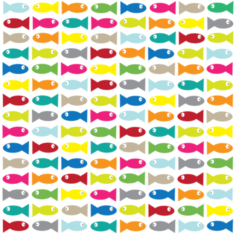 Multi Fish.  fabric by halfpinthome on Spoonflower - custom fabric