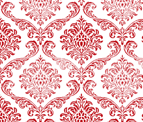 Timeless brocade/ bleached Red fabric by paragonstudios on Spoonflower - custom fabric