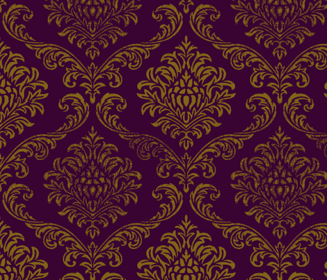 Timeless brocade/ Eggplant fabric by paragonstudios on Spoonflower - custom fabric