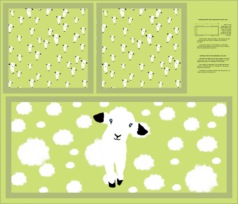 Baby Lamb Pillow Slip fabric by animotaxis on Spoonflower - custom fabric