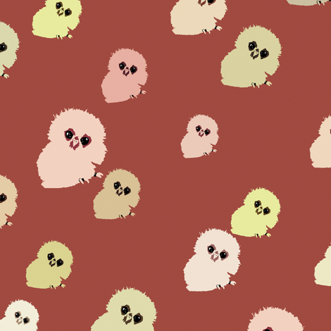 Baby Owlets fabric by animotaxis on Spoonflower - custom fabric