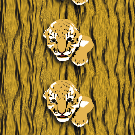 Baby Tigers fabric by animotaxis on Spoonflower - custom fabric